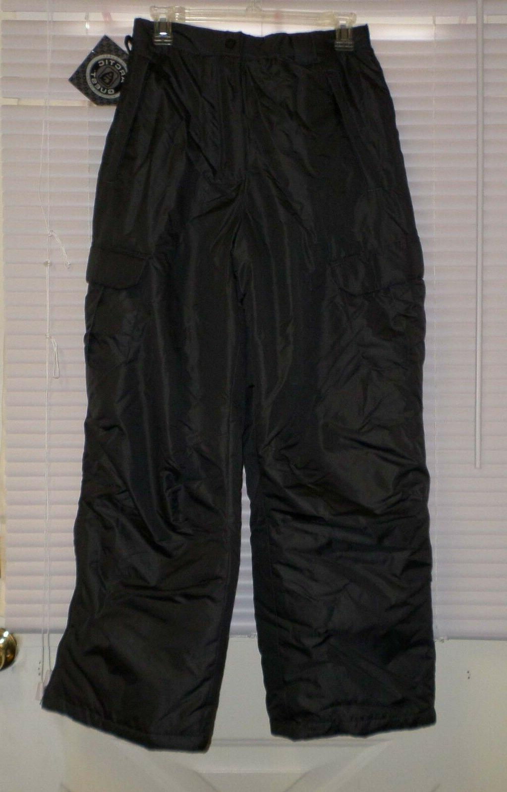 ARCTIC DARK Gray Insulated Pants S NWT