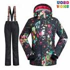 GSOU SNOW Waterproof Ski Suit Women Jacket Pants Set Winter