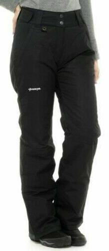 Arctix Women's Insulated Snow Pant, Black, Small/Tall