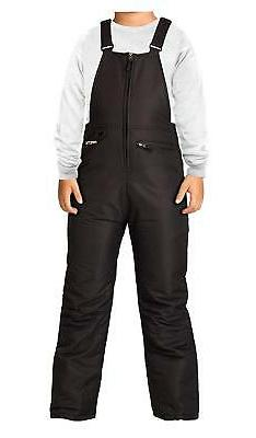 Arctix Insulated Youth Snow Bib Overalls, Black, X-Large SPO