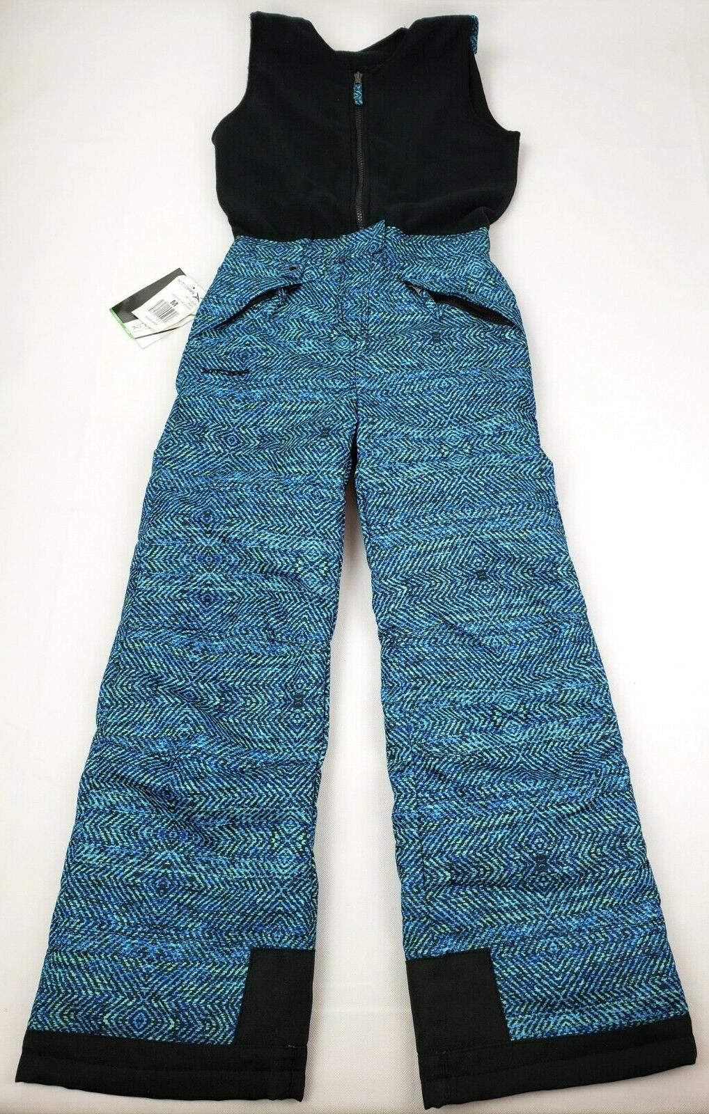 kids limitless overalls bib medium aztec aqua