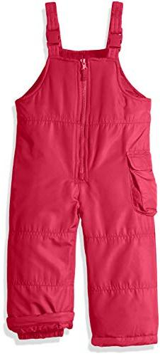 London Fog Little Girls' Classic Bib Pant with Zipper, New P