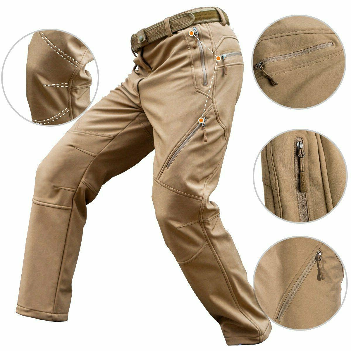 Free Soldier Men's Outdoor Fleece Softshell Snow Hiking Pants 32/32