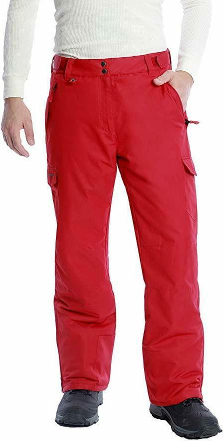men s snow sports cargo pants red
