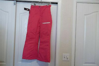 NEW PINK SKI PANTS SZ M YOUTH