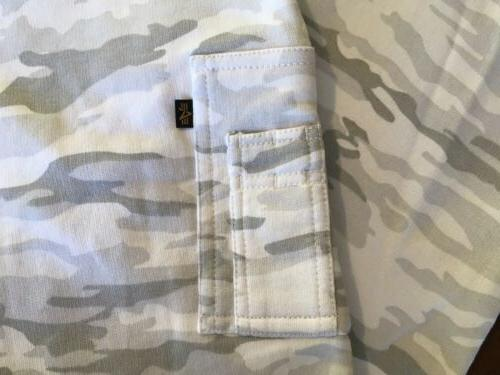 NEW ! Alpha Industries Gray Camo Large