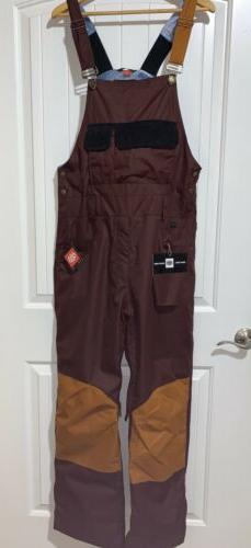 NWT 686 Men's Overall Snow Pants FOREST BAILEY'S COSMIC COLL