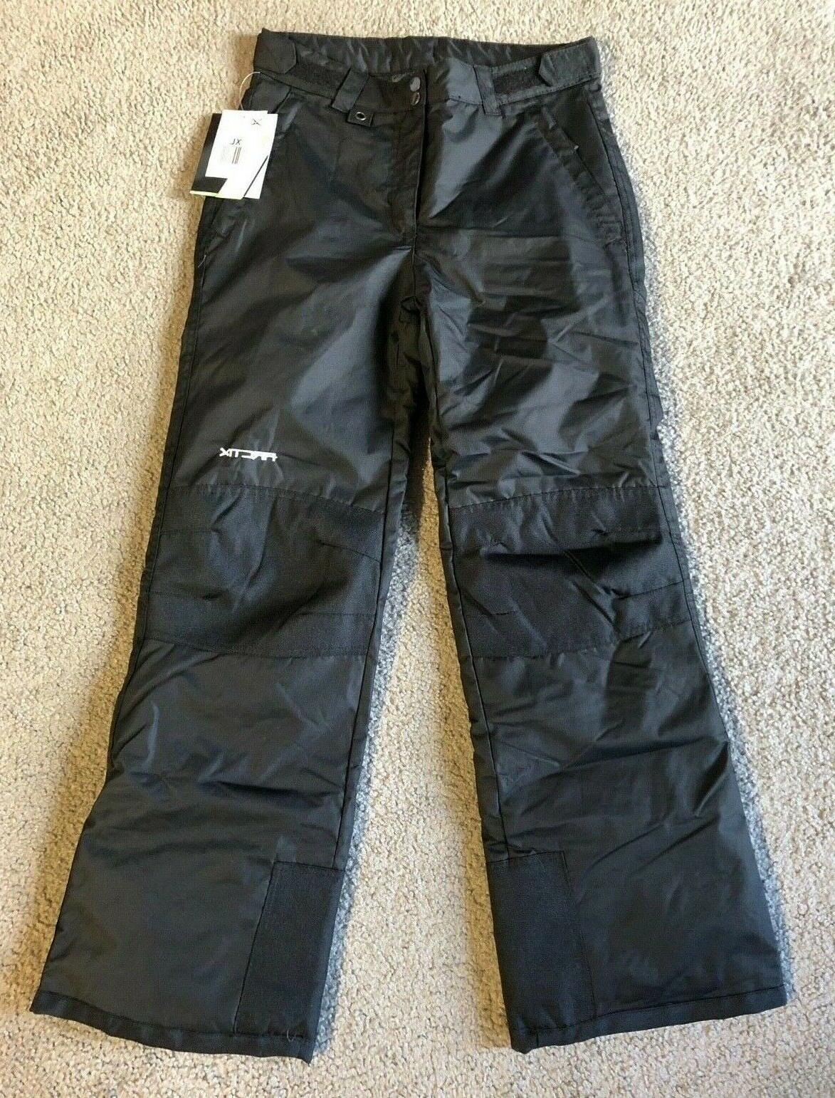 nwt reinforced snow pant youth black snow