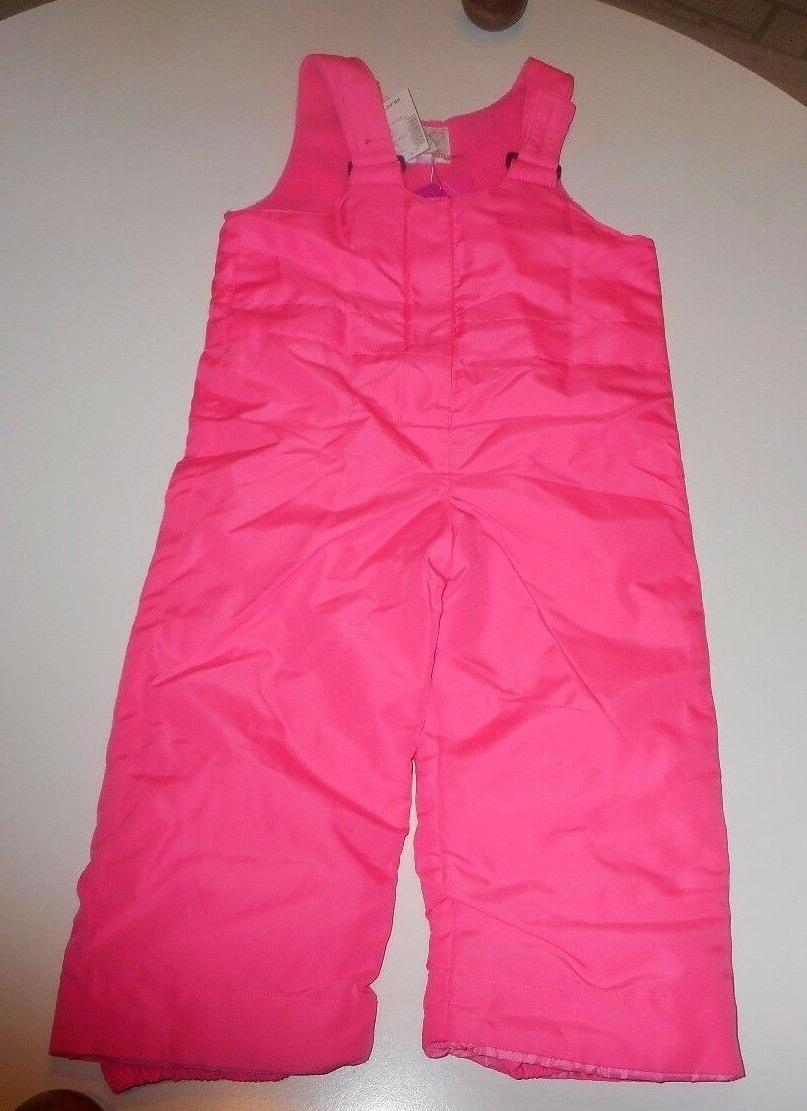 NWT The Children's Place Snow Pants Bibs Berry Pink New Navy