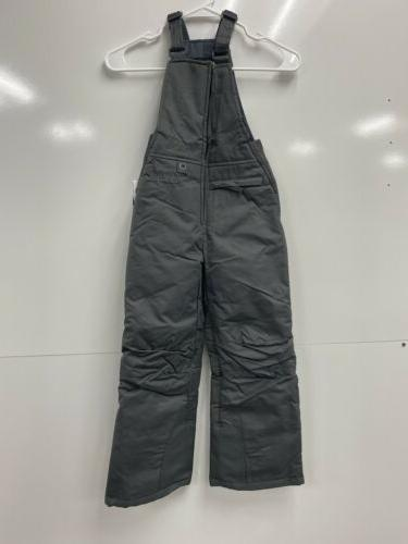 nwt youth insulated snow bib overalls charcoal