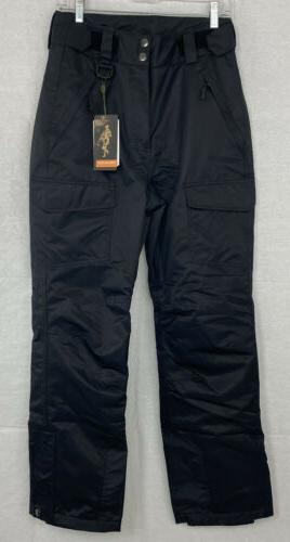 outdoor insulated black snow pants womens small