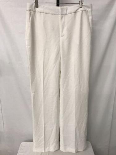 CHELSEA 28 PLEATED CLASSIC PLEATED WIDE LEG DRESS PANTS SNOW