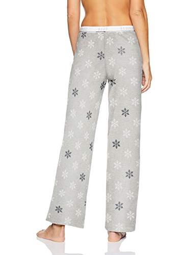 Tommy Hilfiger Plus Size Women's Logo Pajama Snowflake White/Blue Grey, 1X