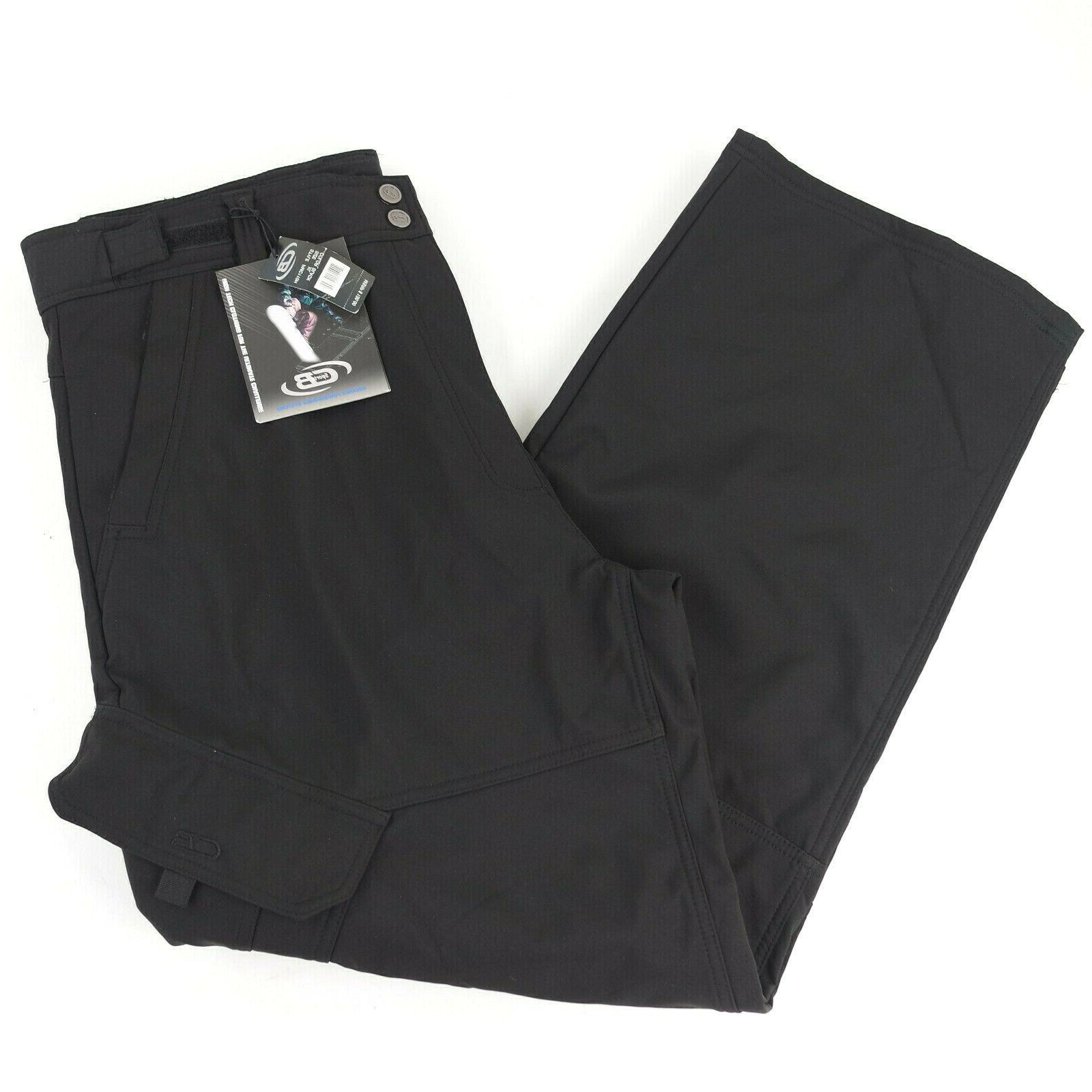ski snow outdoor sports pants black lined