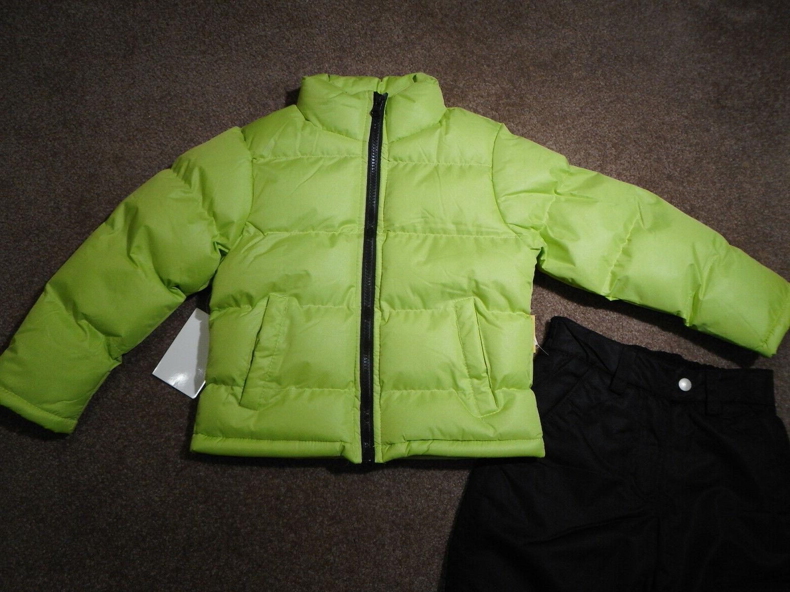 Snowsuits Coats Outerwear Yellow Puffer jackets Snow/Ski Pants 2pc