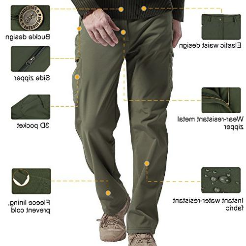FREE SOLDIER Men's Pants Lining for Winter Upgraded Style