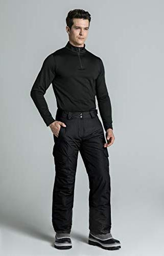 TM-YKB83-BLK_Large Tesla Men's Cargo Rip-Stop Pants Windproof Ski YKB83