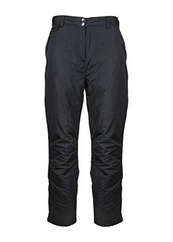 black insulated pocket snow pants