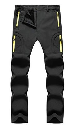 windproof fleece lined hiking pants