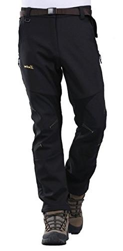 Geval Men's Windproof Waterproof Softshell Fleece Ski Pants