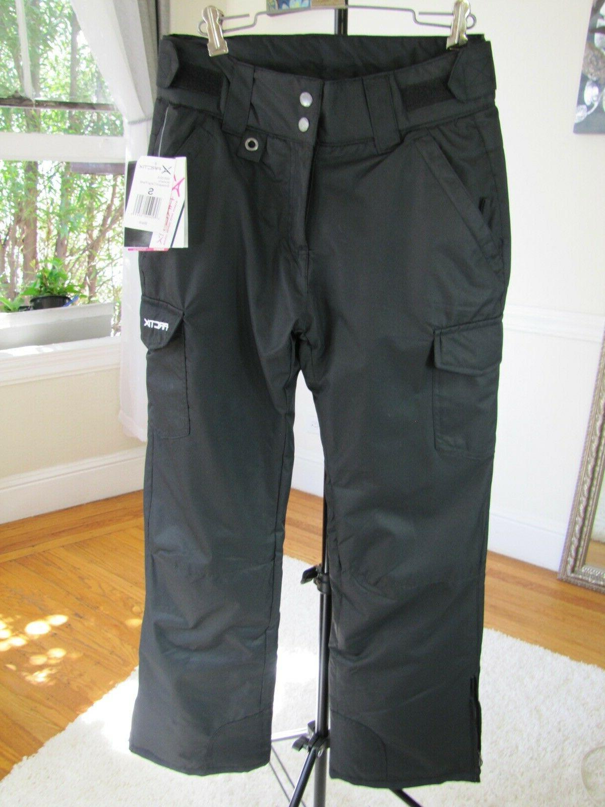 Arctix Women's Black Snowboard Ski Pants Insulated NEW! Size