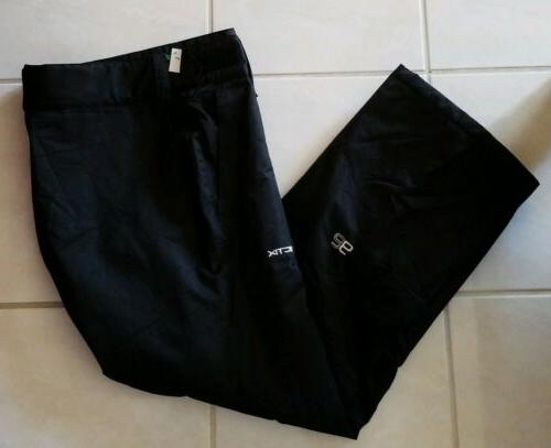 women s insulated snow pants black large