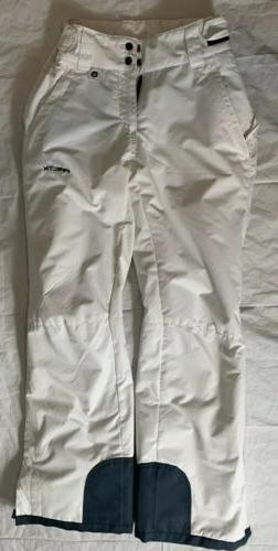 women s insulated snow pants white small
