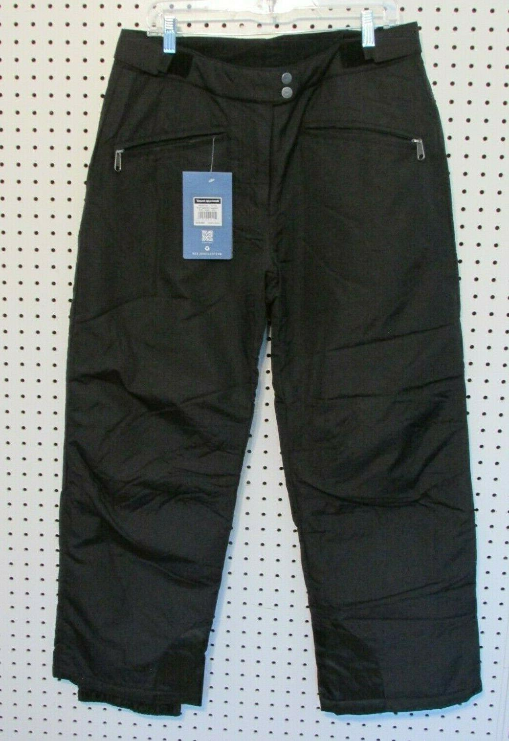 women s toboggan insulated snow pant black