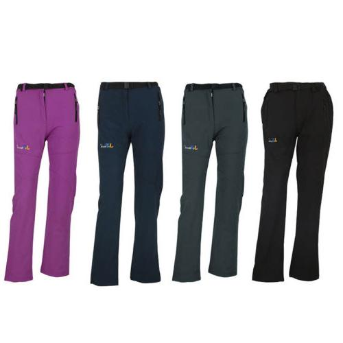 Women Warm Outdoor Hiking Ski Pants Snow Pant Fleece Padded