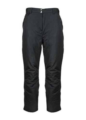 womens insulated ski and snow pants black