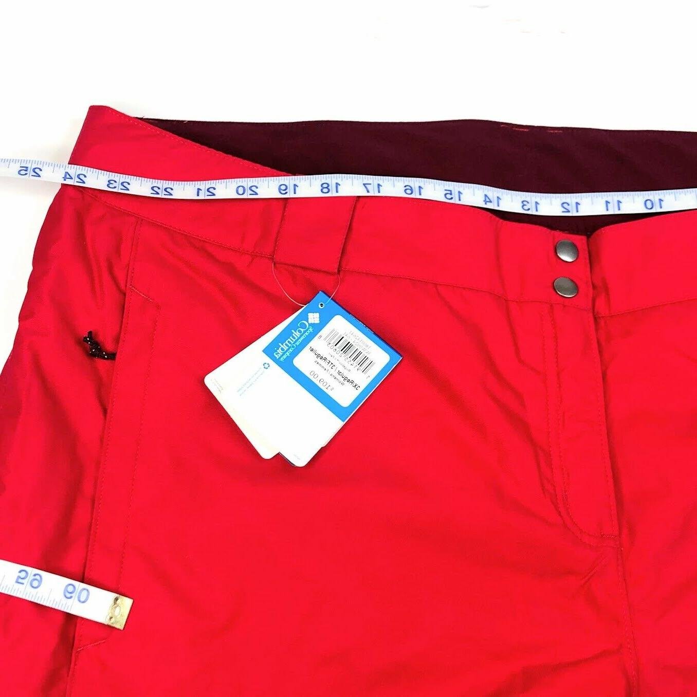 Columbia Red Insulated Snow Pants Omni-Heat 3X
