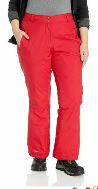 womens plus size red insulated ski snow