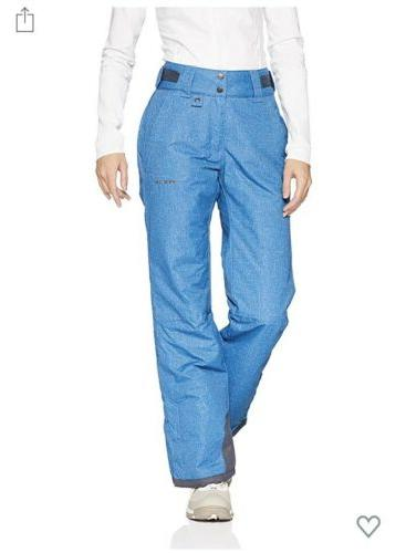 womens snow pants mesium blue melange