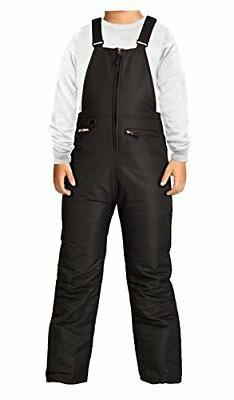 ARCTIX Youth Insulated Snow Bib Overalls Black X-Small/Husky