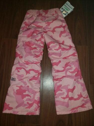 Arctix Youth Reinforced Snow Pants Girl's Pink 1150-57-XS