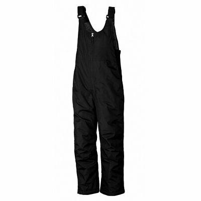 youth toboggan insulated bib black x small