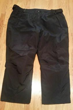 LAND'S END Womens Plus Size 3X Black Squall Waterproof Snow