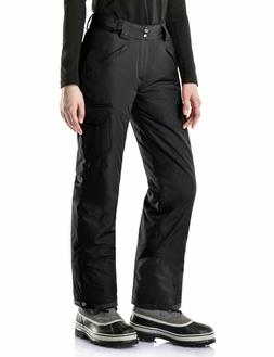 TSLA Large Women's Rip-Stop Snow Ski Pants Black New with Ta