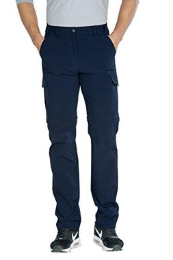 "Unitop Men's Lightweight Hiking Pants Blue 32/34"" inseams"