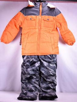 Snow Jacket /& Bibs Orange Youth Boy/'s Ixtreme Insulated 2 Piece Set