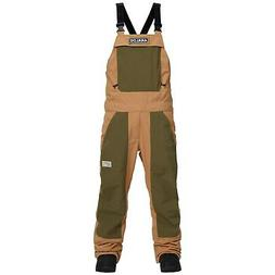 ANALOG Men's AG ICE OUT BIB Snow Pants - Camel/DustyOlive -