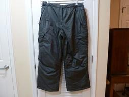ARCTIC QUEST - MEN'S CARGO SNOW SKI PANTS - Black - SIZE L -