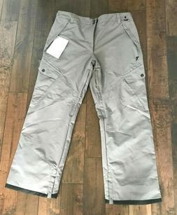 Men's Snow Pants Snowboard Ski Gray Insulated Padded Ripzone