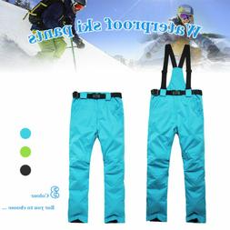 Men Women Ski Pants Waterproof Snow Pants Ski Trousers Snowb
