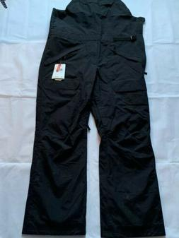 the north face mens bib snow/ski pants black size: 2xl nwt