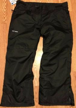 ARCTIX Mens Insulated Water-Resistant Snow Pants Black Size