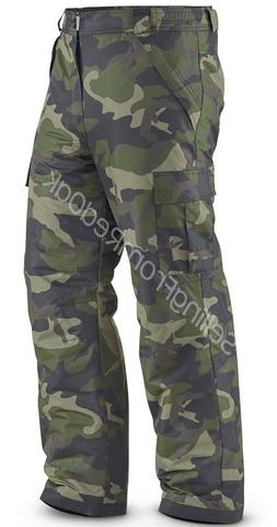 MENS INSULATED WATERPROOF SKI SNOW BOARD CARGO PANTS CAMO CA