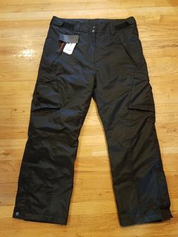 Free Soldier Mens Snow Ski Winter Insulated Cargo Pants Blac