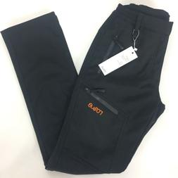 Nonwe Mens Windproof Pants XS Black Snow Ski Lined Fleece Wa