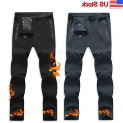 Mens Winter Warm Ski Snow Pants Trousers Fleece Lined Hiking